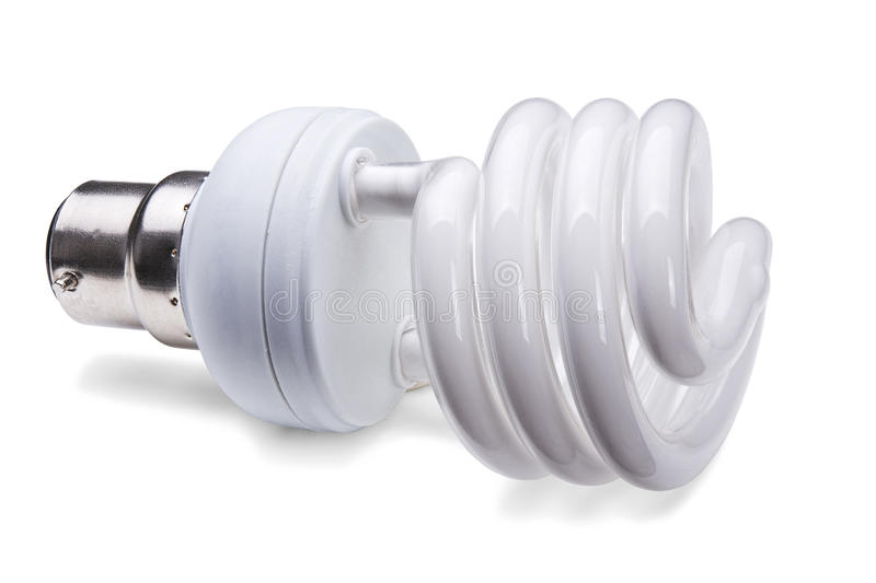Lâmpada fluorescente compacta imagem de stock