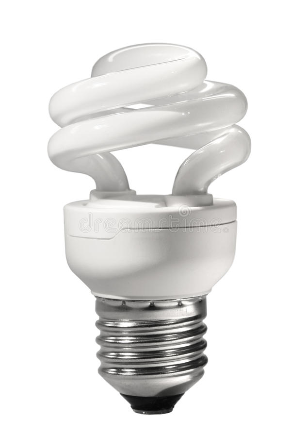 Lâmpada fluorescente compacta da economia de energia imagens de stock royalty free