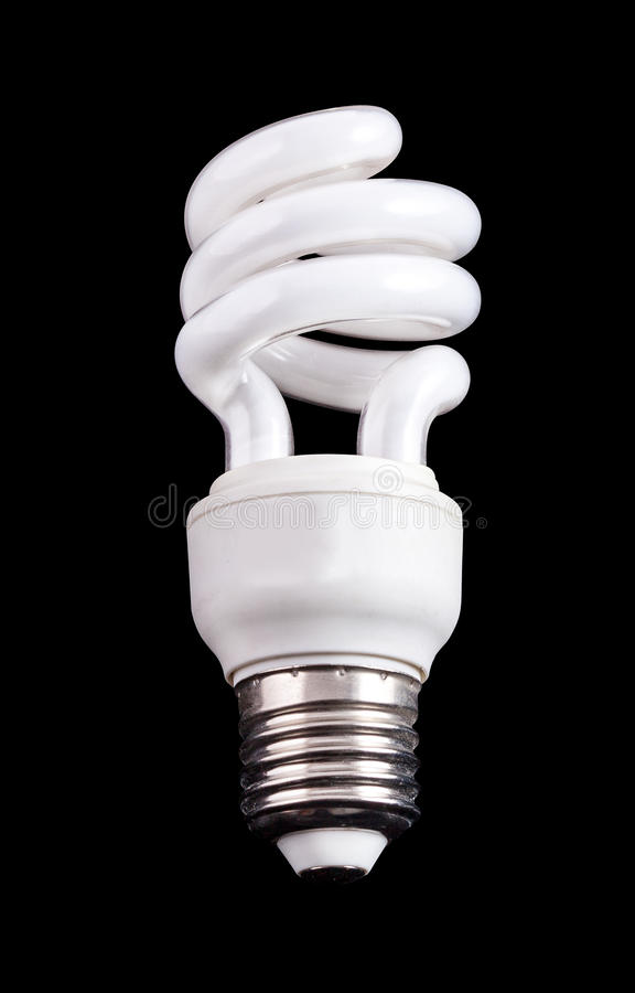 Lâmpada fluorescente compacta da economia de energia fotos de stock