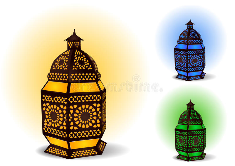 Lâmpada islâmica para celebrações de Ramadan/Eid ilustração royalty free