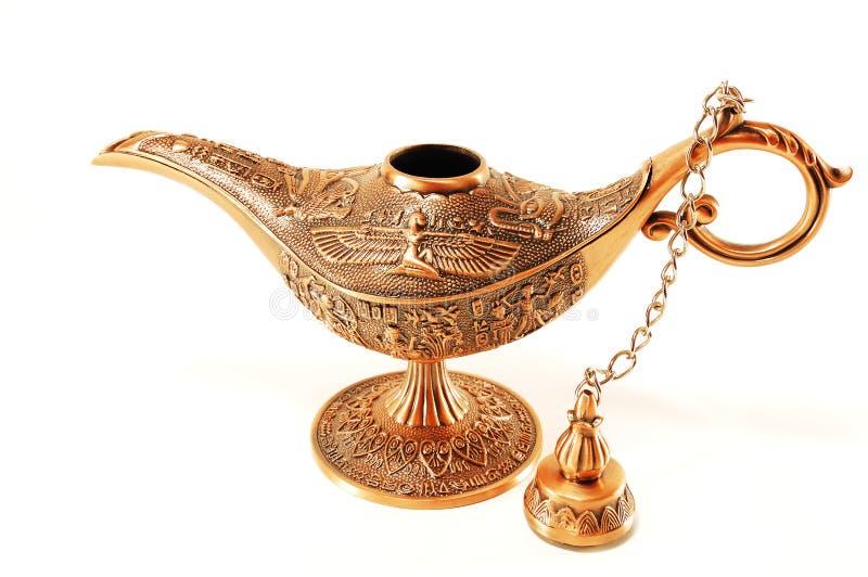 Lâmpada mágica de Aladdin imagem de stock
