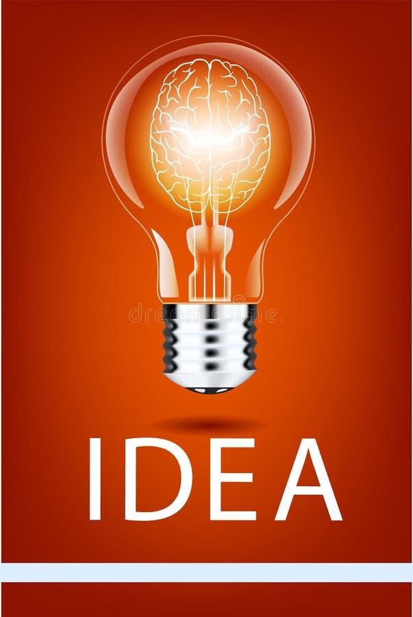 Lâmpada realística com uma luz brilhante em um fundo isolado Ilustração do vetor Lâmpada elétrica do ` s de Addison ilustração stock