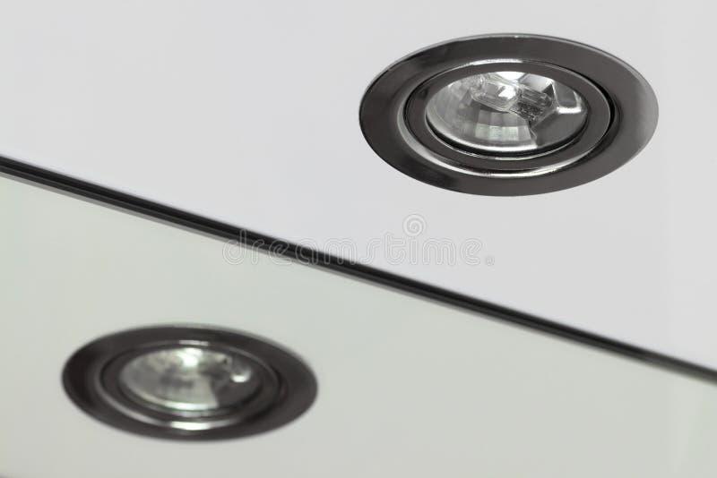 Lâmpada Recessed do halogênio imagens de stock