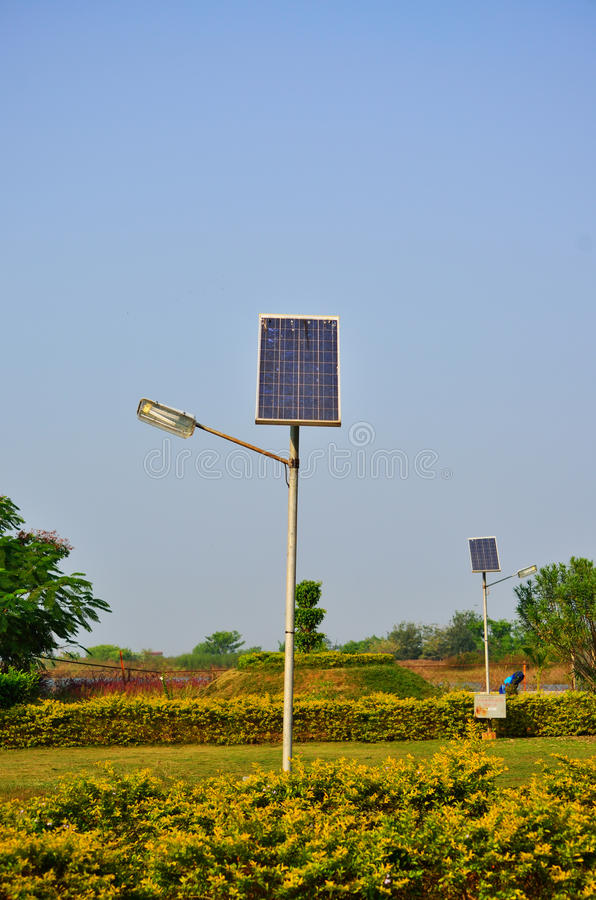 Lâmpada solar velha imagens de stock royalty free