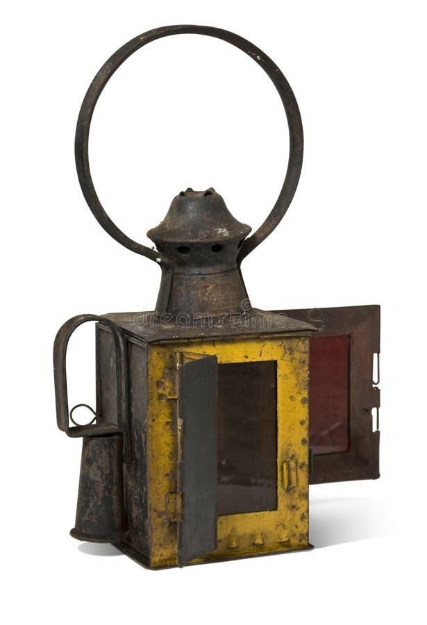 Lâmpada velha da estrada de ferro da lâmpada velha da estrada de ferro fotografia de stock royalty free