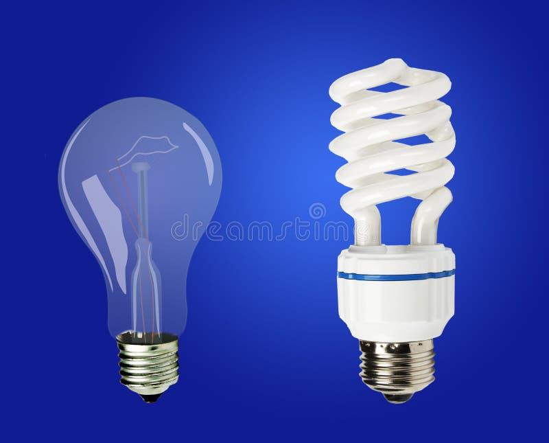 Lâmpadas da economia de energia imagens de stock royalty free