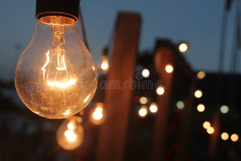 Lâmpadas de brilho fotografia de stock