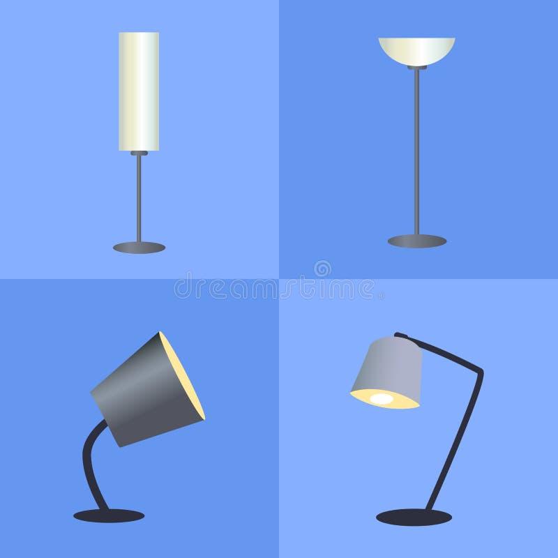 Lâmpadas de brilho coleção, ilustração do vetor ilustração royalty free