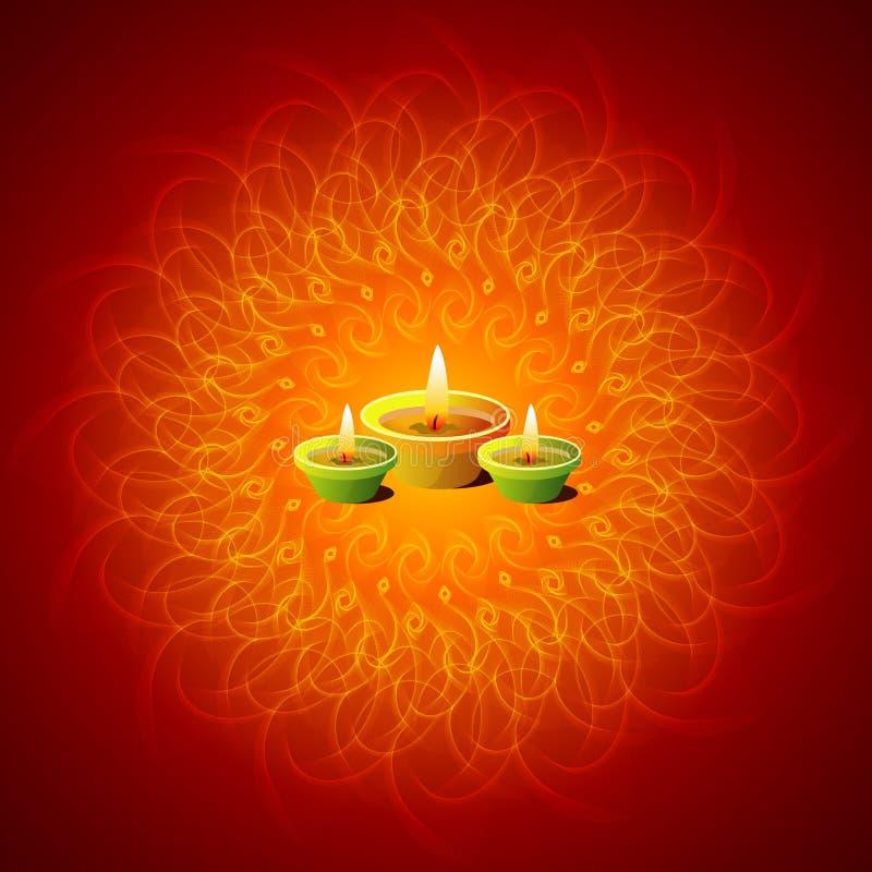 Lâmpadas de incandescência de Diwali ilustração do vetor