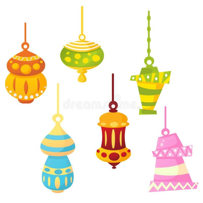 Lâmpadas de Ramadan ilustração stock