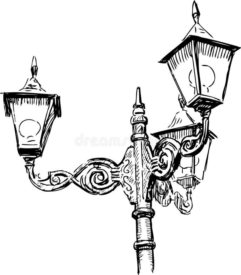 Lâmpadas de rua ilustração stock