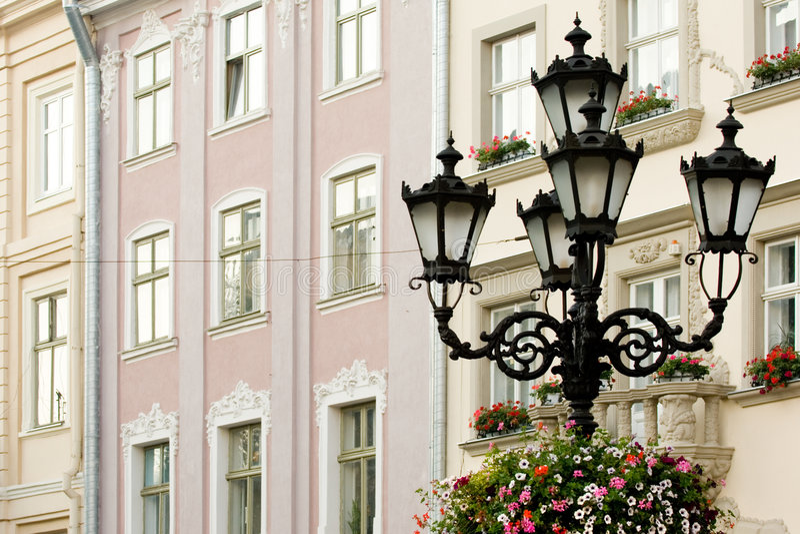 Lâmpadas de rua fotografia de stock