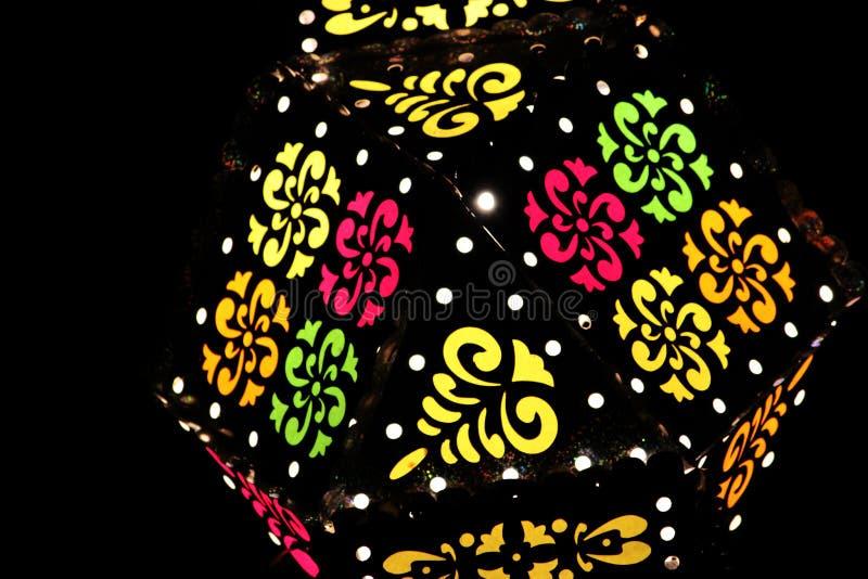 Lâmpadas decorativas coloridas fotografia de stock