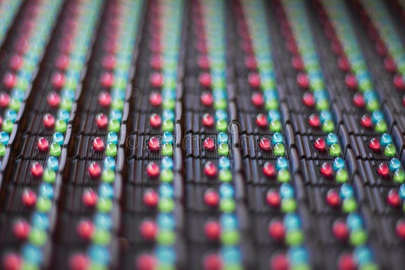Lâmpadas do diodo emissor de luz na eletrônica imagens de stock royalty free