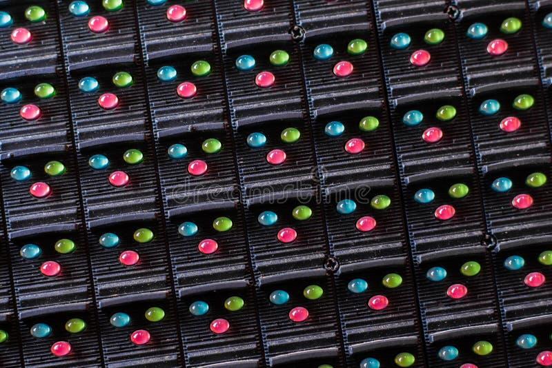 Lâmpadas do diodo emissor de luz na eletrônica imagem de stock