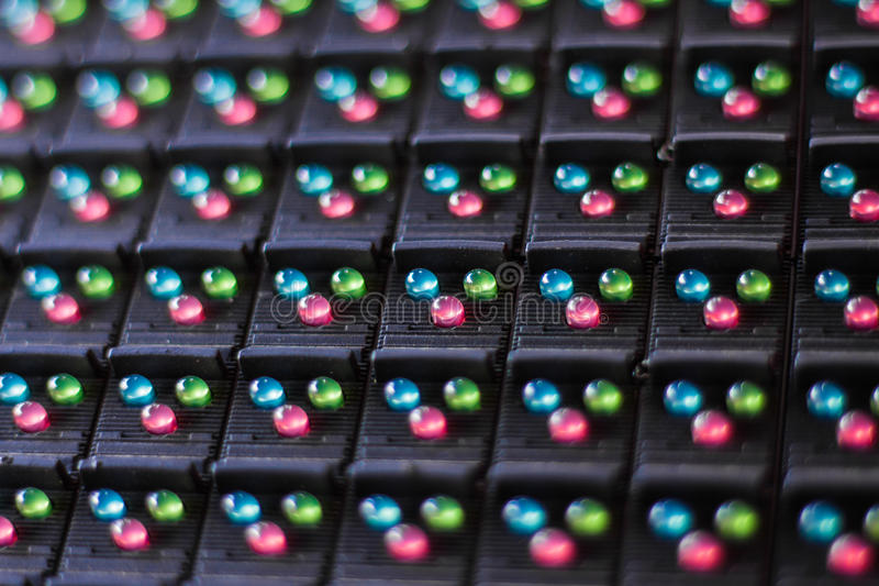 Lâmpadas do diodo emissor de luz na eletrônica fotos de stock