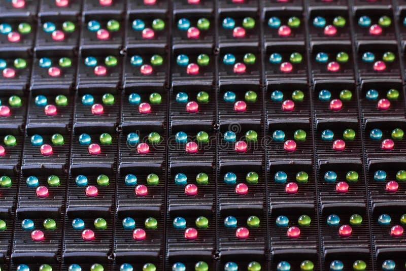 Lâmpadas do diodo emissor de luz na eletrônica fotografia de stock