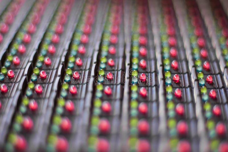 Lâmpadas do diodo emissor de luz na eletrônica imagens de stock