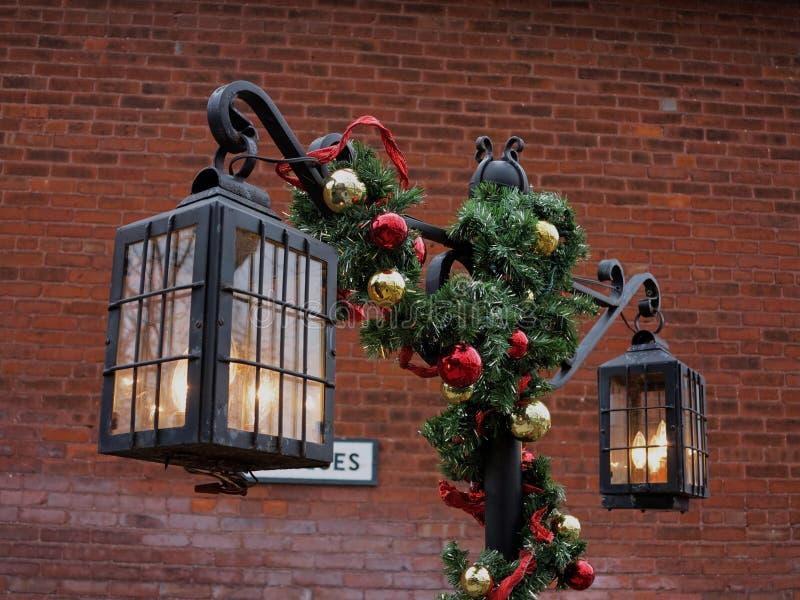 Lâmpadas do Natal fotos de stock