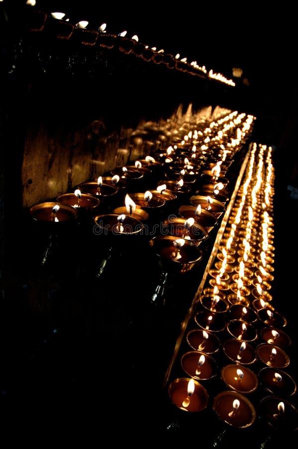 Lâmpadas do templo foto de stock
