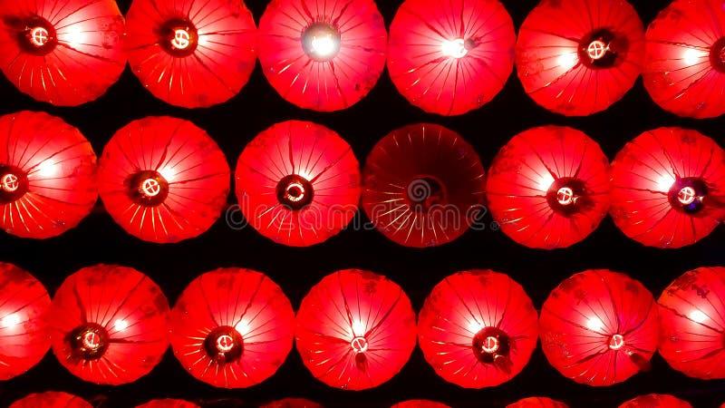 Lâmpadas e festival colorido do ano novo chinês foto de stock royalty free