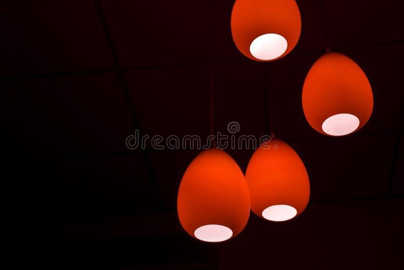 Lâmpadas vermelhas fotografia de stock