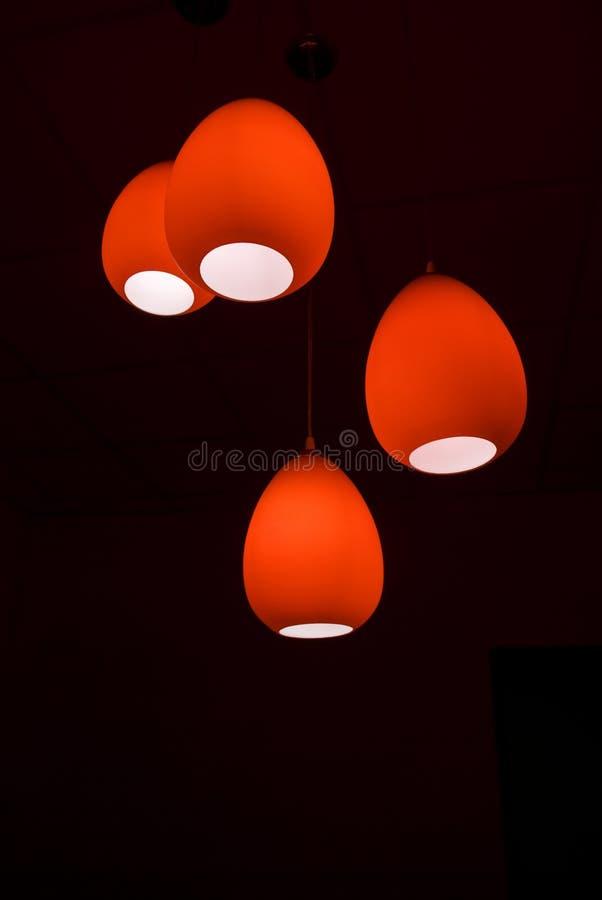 Lâmpadas vermelhas imagens de stock