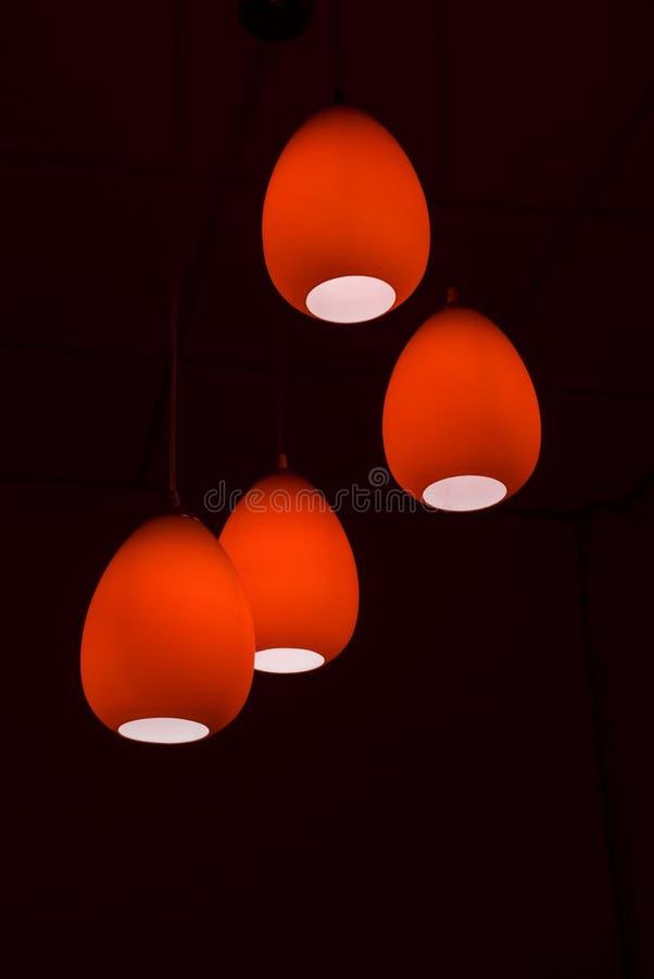 Lâmpadas vermelhas imagem de stock