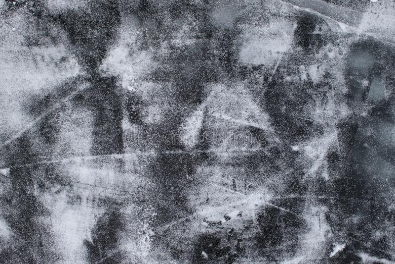 Lód z śniegu i narysów tekstury tłem fotografia royalty free