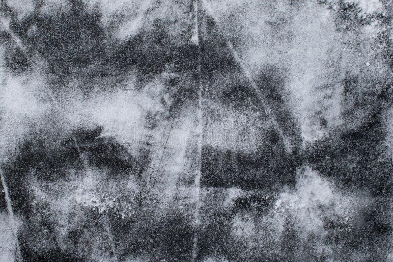 Lód z śniegu i narysów tekstury tłem fotografia stock