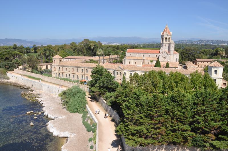 Lérins修道院法国的修道院 库存照片