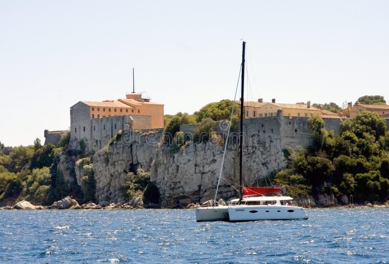 Lérins海岛法国 库存图片