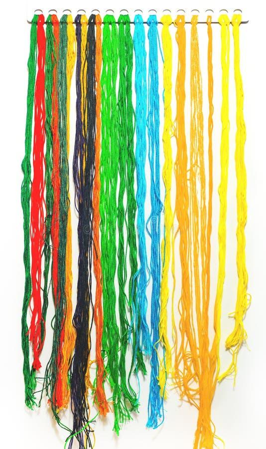 Lãs coloridas imagens de stock