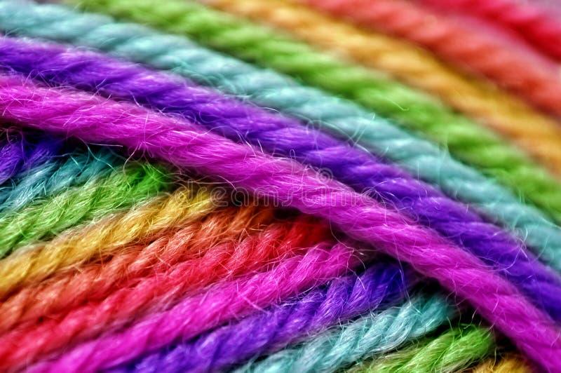 Lãs do arco-íris imagem de stock royalty free