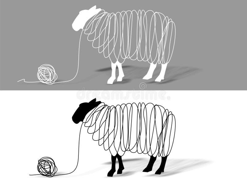 Lãs dos carneiros ilustração stock