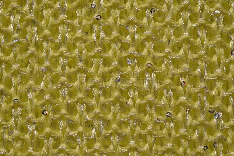 Lãs feitas malha amarelo imagens de stock