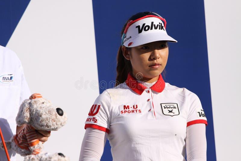 Lä för Mi Hyang på turneringen 2015 för ANA inspirationgolf royaltyfri foto