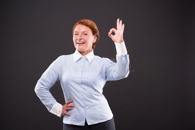 Lächeln businesslady stockfotos