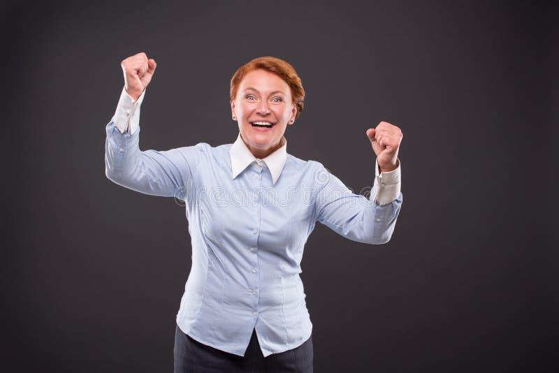 Lächeln businesslady stockfoto