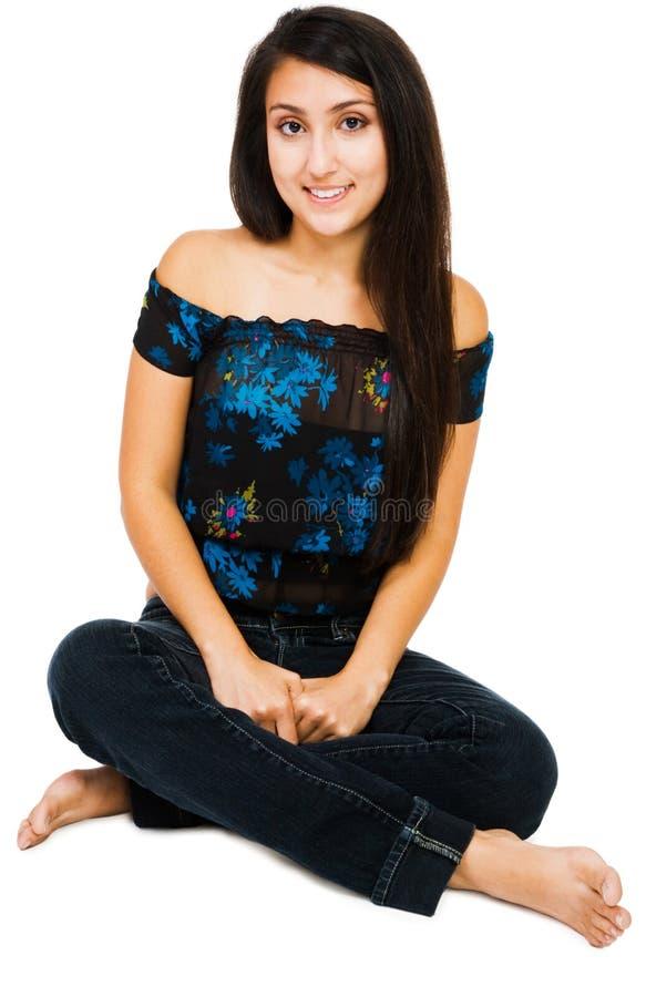 Lächeln der jungen Frau stockfotografie