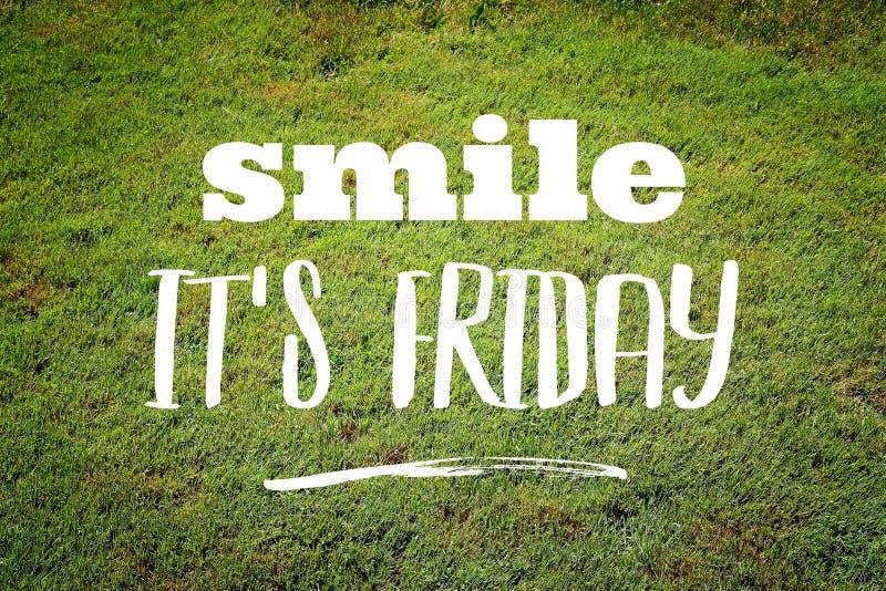 Lächeln es \ 's Freitag lizenzfreie stockfotos