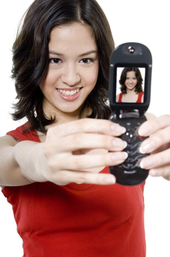 Lächeln für Kamera lizenzfreie stockfotografie