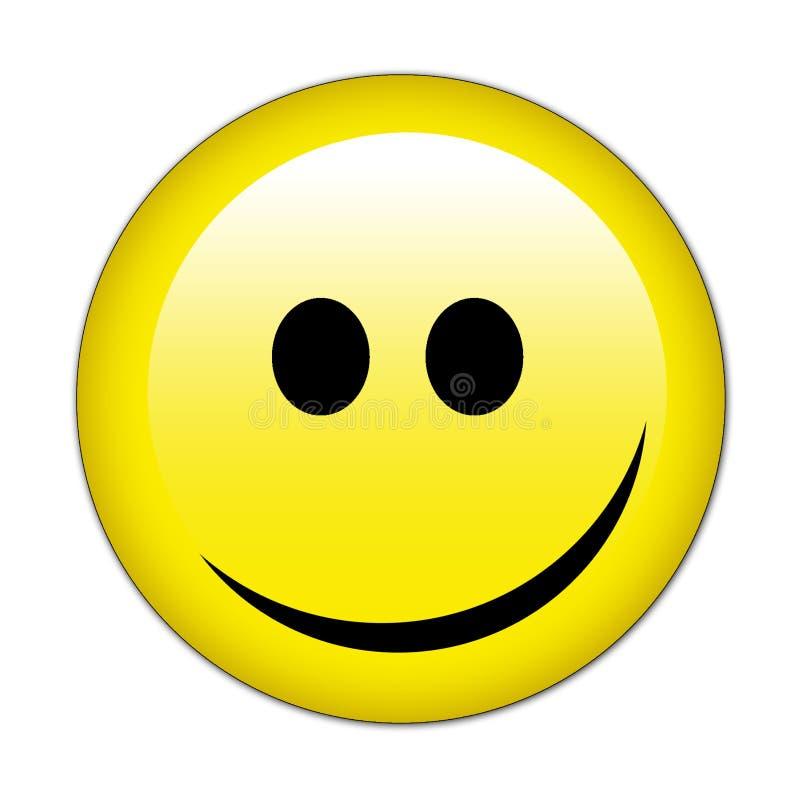 Lächeln-Gesichts-Knopf lizenzfreie abbildung