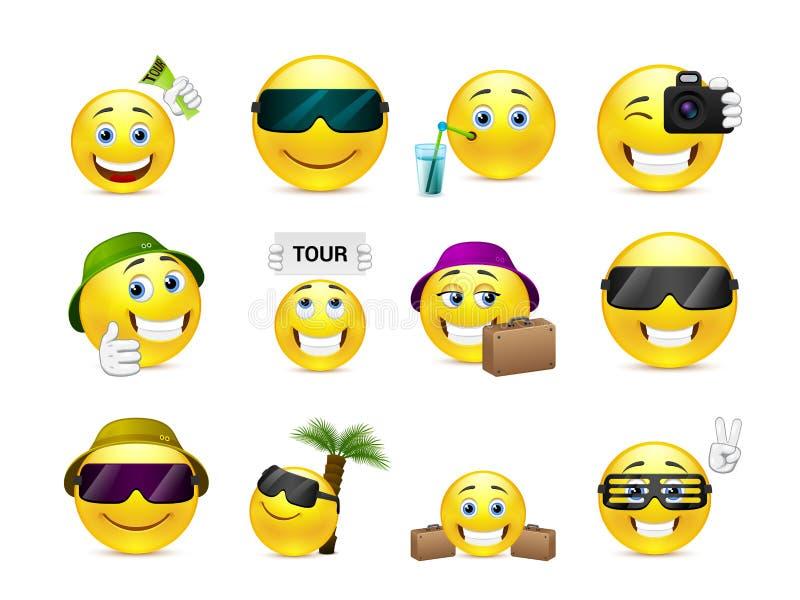 Lächeln im Urlaub lizenzfreie abbildung