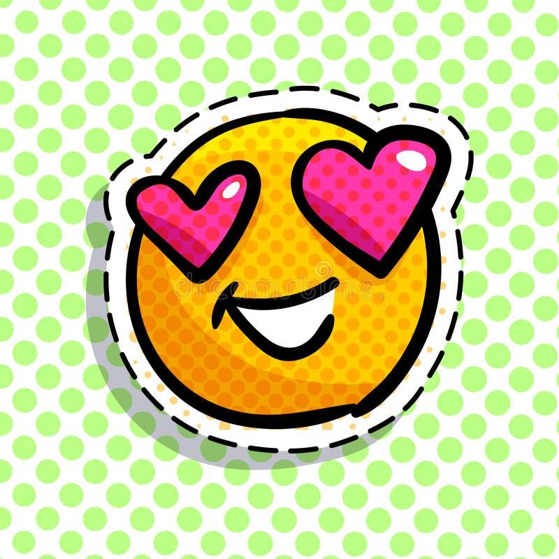 Lächeln in Liebe Emoticon lizenzfreie abbildung