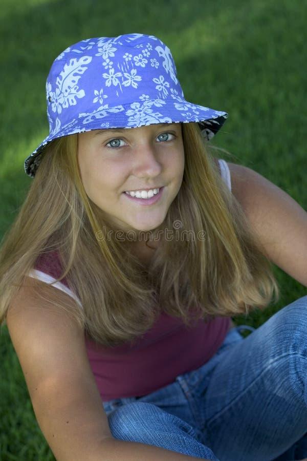 Lächeln-Mädchen stockfotos