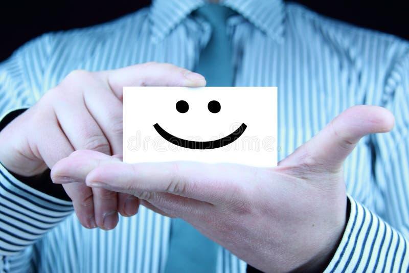Lächeln - Visitenkarte lizenzfreies stockfoto