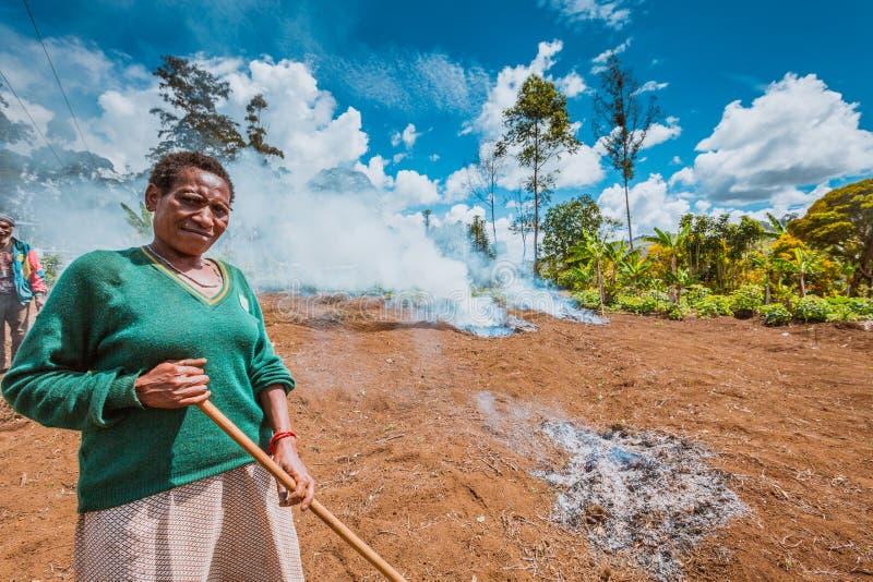 Lächeln von Papua-Neu-Guinea lizenzfreies stockfoto