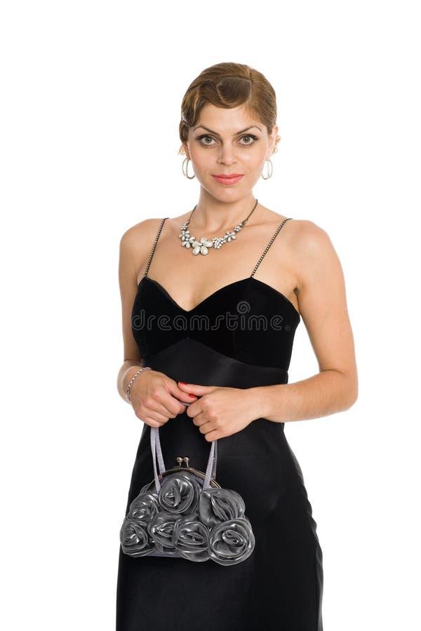 Lächelnde attraktive junge Frau stockfoto