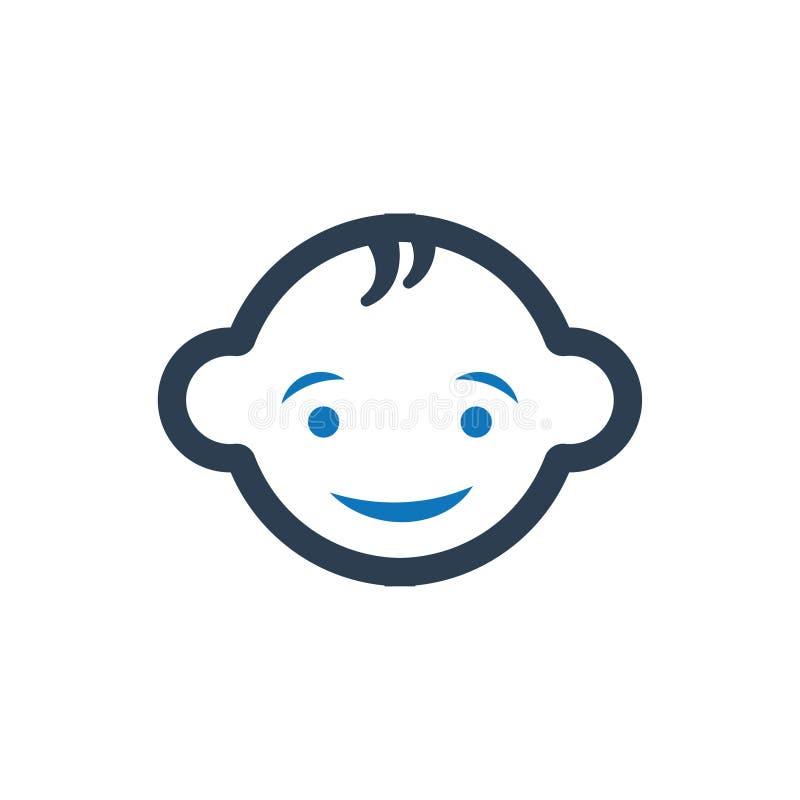 Lächelnde Baby-Ikone lizenzfreie abbildung